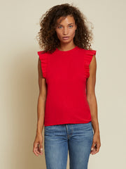 Nation LTD Paulette Ruffle Tank In Campari - Whim BTQ