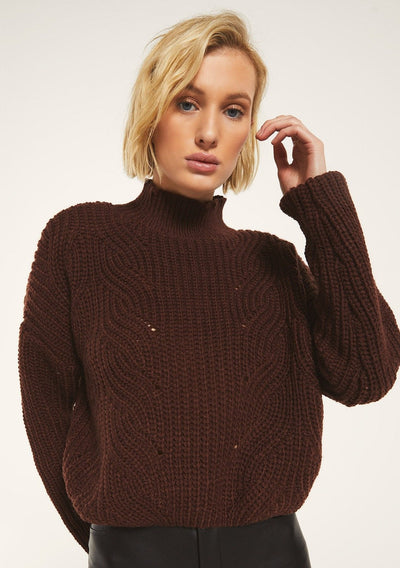 Rag Poets MARYLEBONE SWEATER in Rum Raisin - Whim BTQ