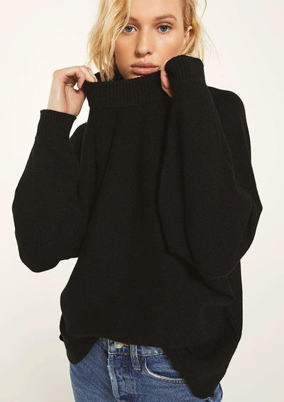 Rag Poets INNSBRUCK SWEATER in Black - Whim BTQ