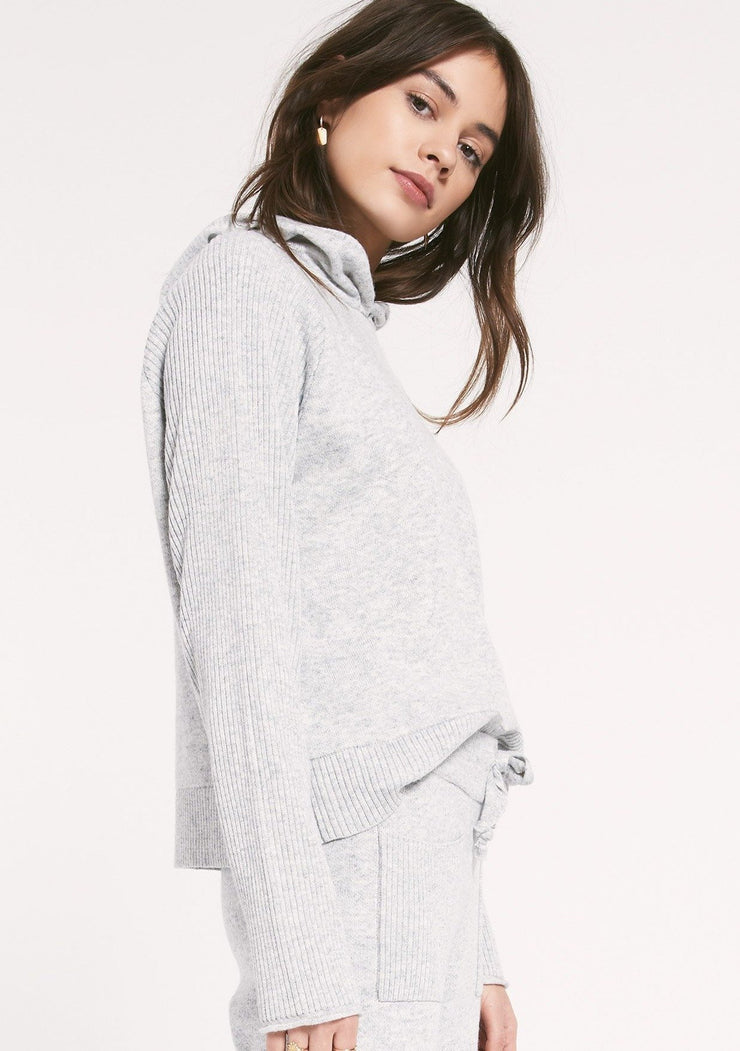 Rag Poets LAYOVER SWEATER in Heather Grey - Whim BTQ