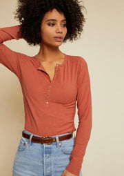 Nation LTD SAMARA LONG SLEEVE in Tawny Rose - Whim BTQ