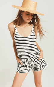 Z Supply AZURE STRIPE ROMPER - Whim BTQ