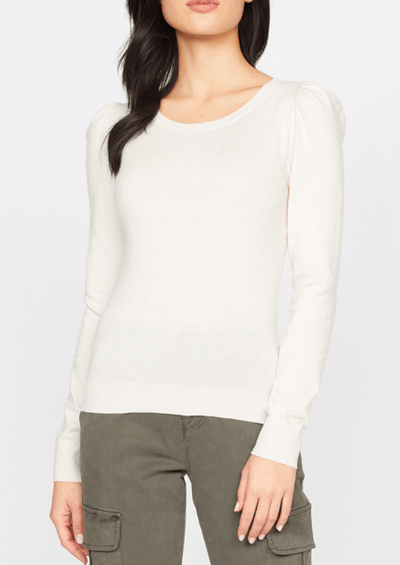 Sanctuary Statement Shoulder Sweater Heather Soymilk - Whim BTQ