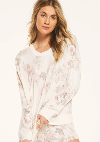 Z Supply ELLE FLORAL LONG SLEEVE - Whim BTQ