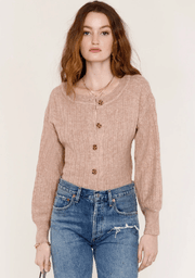 Heartloom Cassidy Cardi in Buff - Whim BTQ