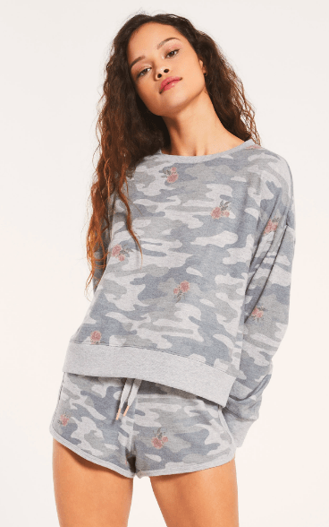 Z Supply Elle Rose Camo LS - Whim BTQ