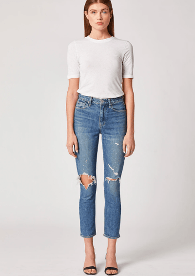 Hudson Holly High-Rise Straight Crop Jean in Never Ever - Whim BTQ