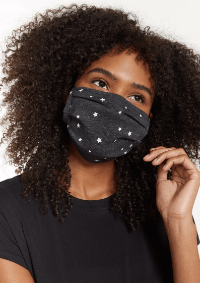 Z Supply STAR REUSABLE FACE MASK (4-PACK) in Black - Whim BTQ