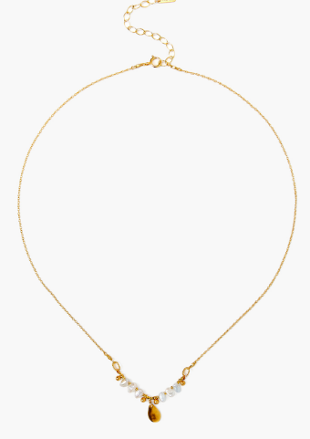 Chan Luu Dancing Pearl Necklace in LIGHT GREY PEARL - Whim BTQ