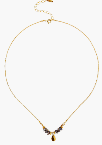 Chan Luu Dancing Pearl Necklace in PEACOCK GREY PEARL - Whim BTQ