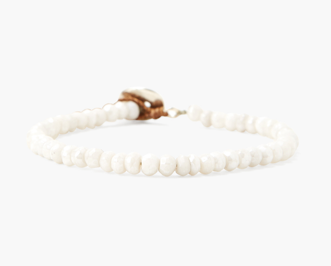 Chan Luu single wrap bracelet in SILVERITE - Whim BTQ