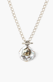 Chan Luu Short Pendant Necklace in GREY PEARL MIX - Whim BTQ