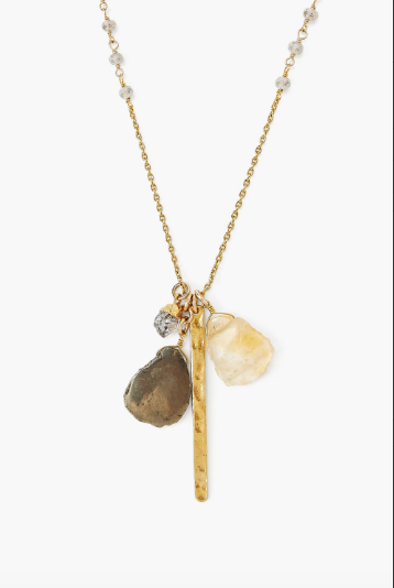 Chan Luu Charm Necklace in MYSTIC LABRADORITE MIX - Whim BTQ