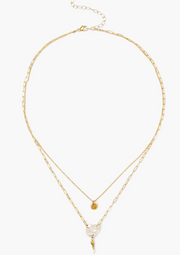 Chan Luu Layered Necklace in WHITE PEARL - Whim BTQ