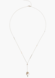 Chan Luu Lariat Necklace in GREY PEARL - Whim BTQ