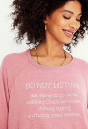 Project Social T DO NOT DISTURB COZY RAGLAN - LA VIE EN ROSE - Whim BTQ