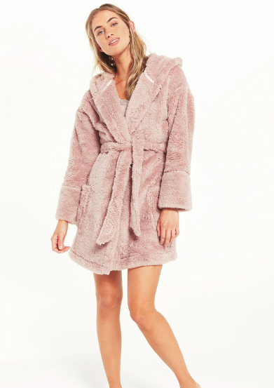 Z Supply Head in the Clouds Robe in Dusty Rose - Whim BTQ