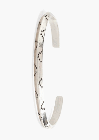 Chan Luu Sterling Engraved Dot Cuff - Whim BTQ