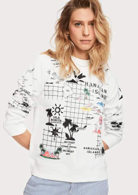 Scotch and Soda Hawaiian Islands Map Sweatshirt - Whim BTQ