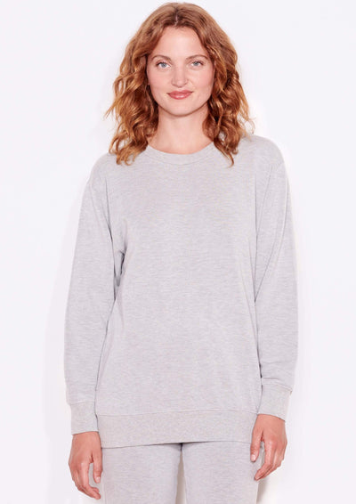 Sundry BOYFRIEND SWEATSHIRT in Heather Grey - Whim BTQ