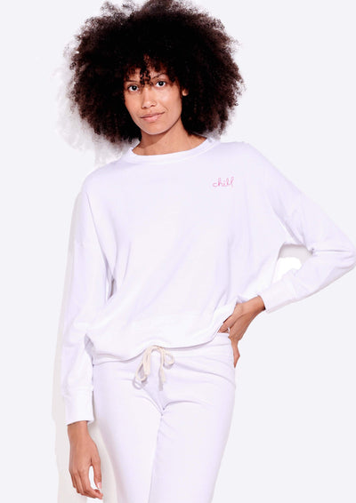 Sundry CHILL OVERSIZE SWEATSHIRT in White - Whim BTQ