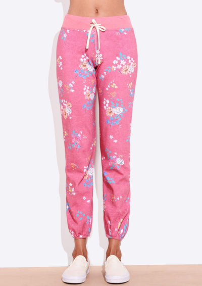 Sundry FLORAL CLASSIC SWEATPANT in Faded Rose - Whim BTQ