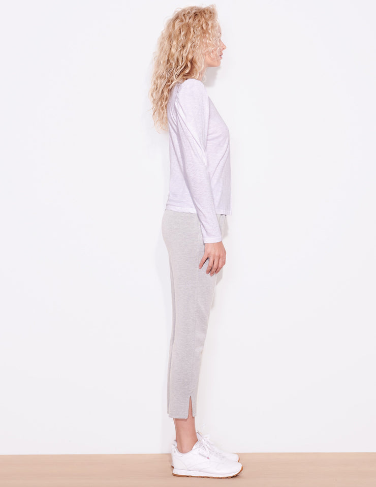Sundry Puff Shoulder Long Sleeve in White - Whim BTQ