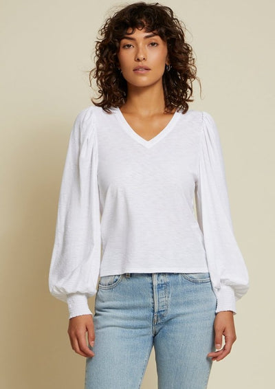 Nation LTD Tabitha Long Sleeve in White - Whim BTQ