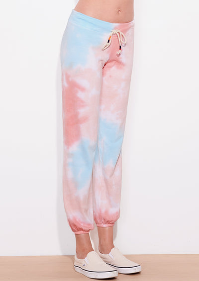 Sundry Terry Sweatpants in Multi Tie-Dye - Whim BTQ
