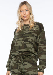 Sub_Urban Riot Heart Emb Camo Willow Sweatshirt - Whim BTQ