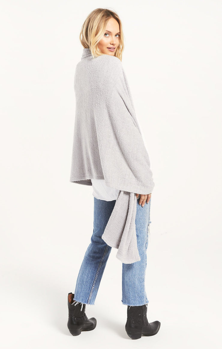 Z Supply KINSEY FEATHER WRAP in Heather Grey - Whim BTQ