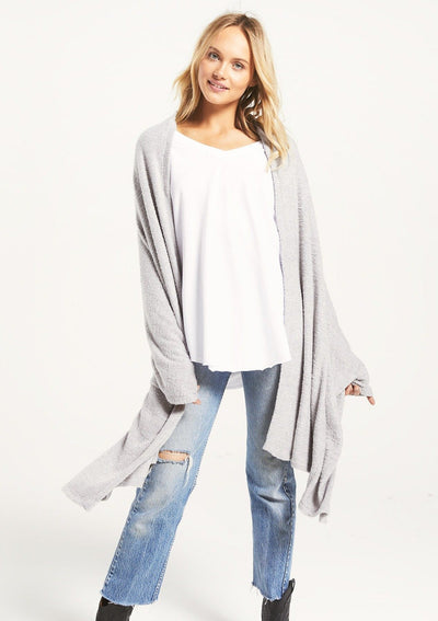 Z Supply KINSEY FEATHER WRAP in Heather Grey- Ships 9/30 - Whim BTQ