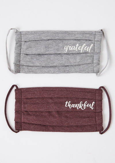 Z Supply GRATEFUL REUSABLE FACE MASK (2-PACK) - Whim BTQ
