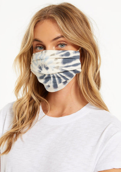 Z Supply TIE-DYE REUSABLE FACE MASK (4-PACK) in Navy- Ships 10/2 - Whim BTQ