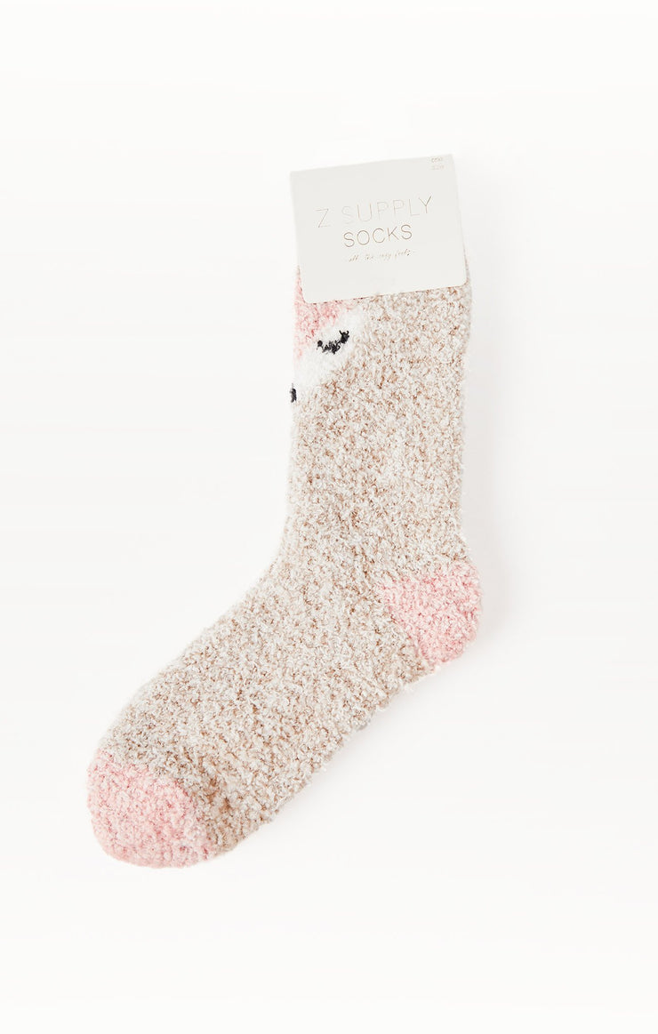 Z Supply Foxy Plush Socks in Birch - Whim BTQ