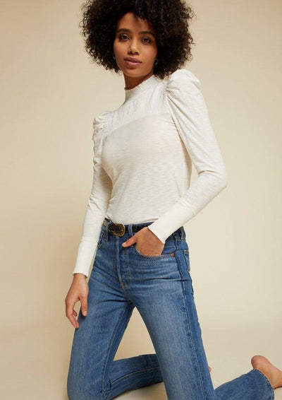 Nation LTD ZAHARA LONG SLEEVE in Off White - Whim BTQ