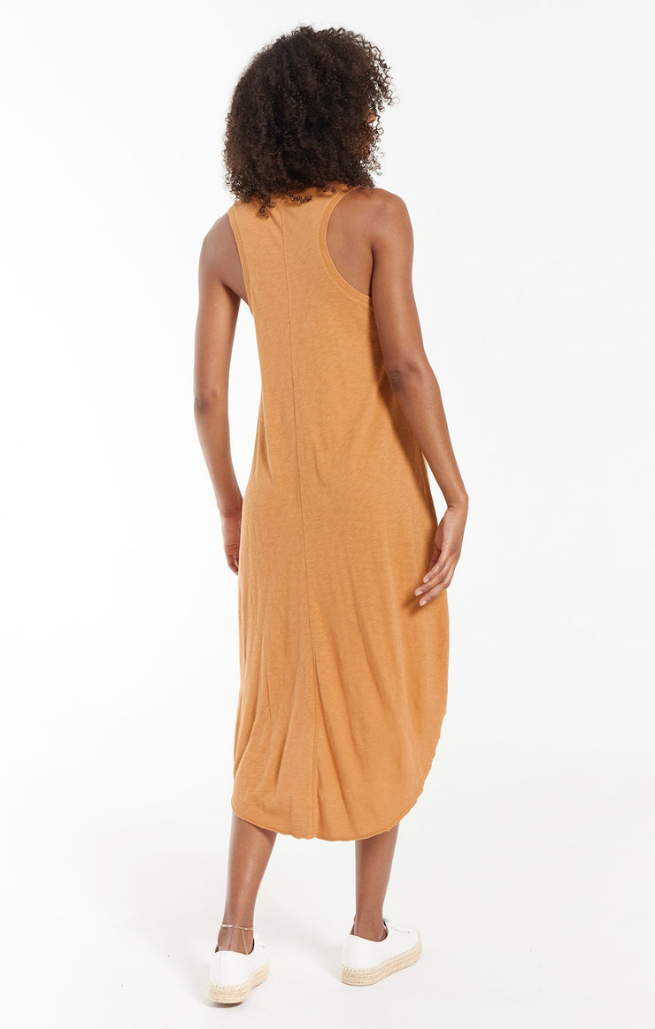 Z Supply REVERIE MIDI DRESS in Bronze - Whim BTQ
