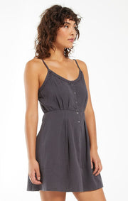Z Supply Umbra Gauze Dress in Washed Black - Whim BTQ