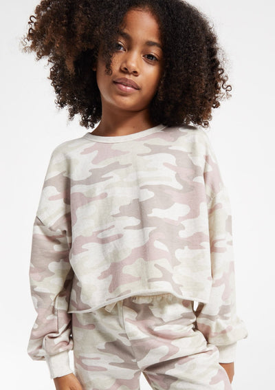 Z Supply Girls Mayori Dusty Camo Pullover