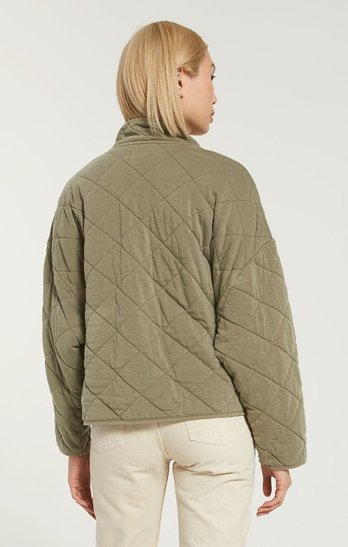 Z Supply MAYA QUILTED JACKET in Olive - Whim BTQ