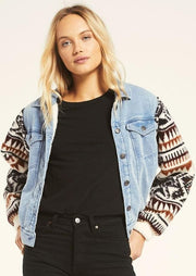 Z Supply GIA KNIT DENIM JACKET-Ships 10/2 - Whim BTQ
