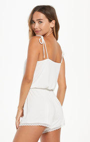 Z Supply Honeymoon Romper in Pearl White - Whim BTQ