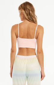 Z Supply Up All Night Rib Bra in Pink Mist - Whim BTQ