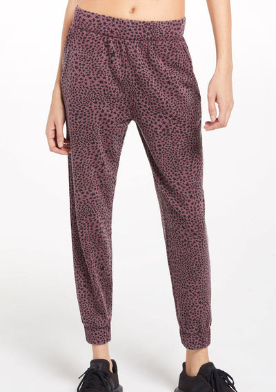 Z Supply CADENCE STARDUST JOGGER in Merlot - Whim BTQ