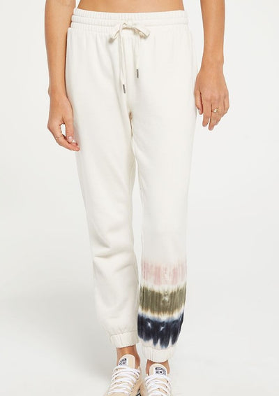 Z Supply Selene Stripe Tie Dye Jogger in Bone - Whim BTQ