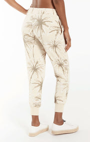 Z Supply Coconut Palm Jogger in Grey - Whim BTQ