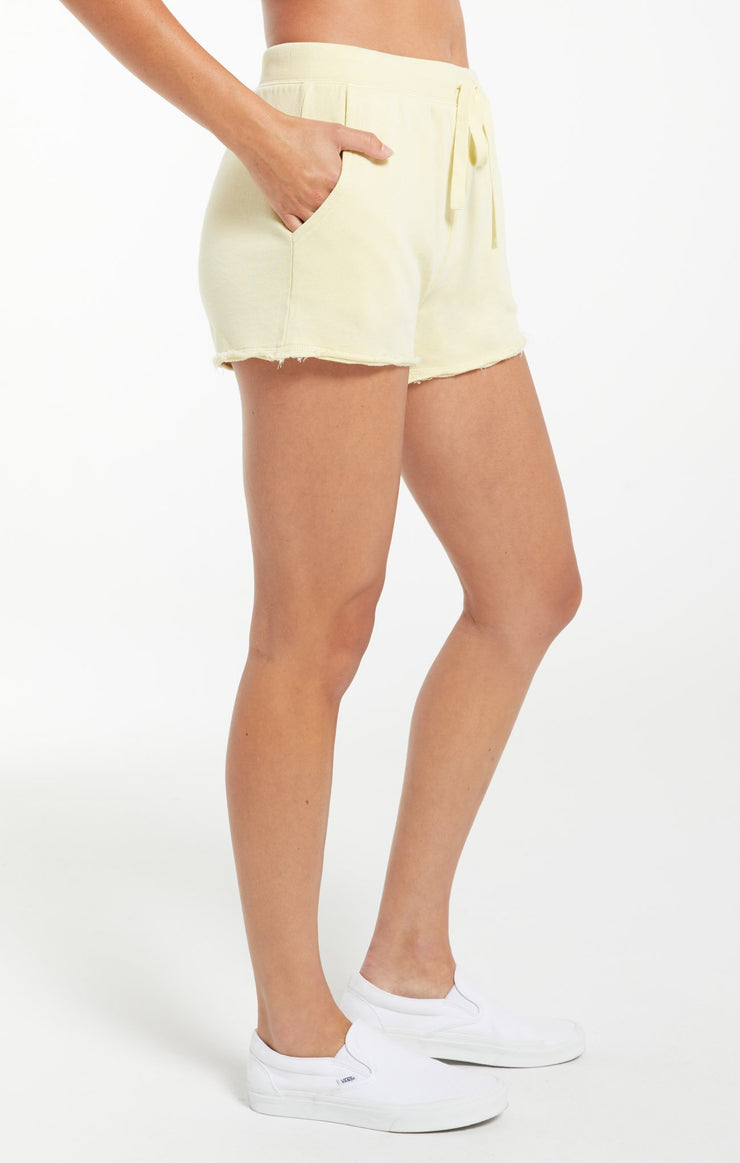 Z Supply Marina Washed Short in Key Lime - Whim BTQ