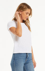 Z Supply Modern Slub Tee in White - Whim BTQ