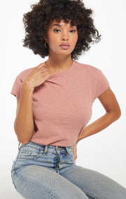 Z Supply Modern Slub Tee in Wild Rose - Whim BTQ