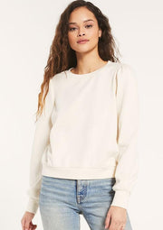 Z Supply ZOE SWEATSHIRT in Bone - Whim BTQ